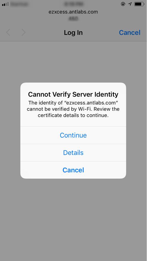 Advisory: Captive Portal Redirection for HTTPS Websites - ANTlabs